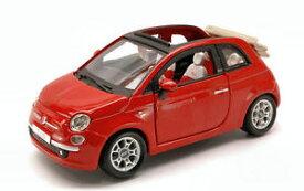 【送料無料】模型車 モデルカー スポーツカー フィアットヌォーヴァカブリオレモデルfiat nuova 500 cabriolet 2010 red 124 model 22117r bburago