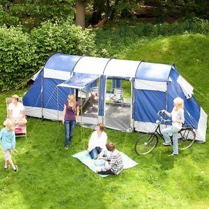 【送料無料】キャンプ用品 5000mmカラムskandikaモンタナ6マントンネルテントskandika montana 6 personman tunnel family tent camping 5000mm column blue