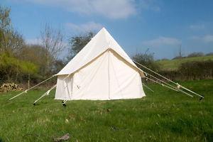 【送料無料】キャンプ用品 3mキャンバステントグラウンドシートジッパー3m cotton canvas bell tent with zipped in groundsheet free next day delivery