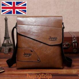 【送料無料】キャンプ用品 ジープメッセンジャーバッグハンドバックjeep leather letter mens cross body shoulder casual messenger bag handbag