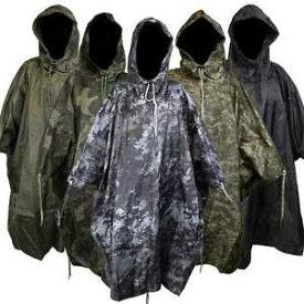 【送料無料】キャンプ用品 ポンチョキャンプハイキングwaterproof us army hooded ripstop festival rain poncho military camping hiking