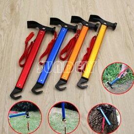 【送料無料】キャンプ用品 ハイキングマレットハマーテントhighcarbon steel shaft mallet hammer tent peg stake puller camping hiking uk