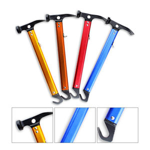 【送料無料】キャンプ用品 ハイキングマレットハマーテントhighcarbon steel shaft mallet hammer tent peg stake puller camping hiking uk