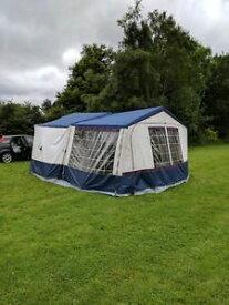 【送料無料】キャンプ用品 コンウェイバーストレーラーテントconway dl 4 berth trailer tent