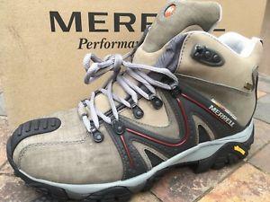 【送料無料】キャンプ用品 ハイキングブーツgoretex vibrammerrellリアクターmerrell reactor waterproof mid walkinghiking boots goretex vibram sole