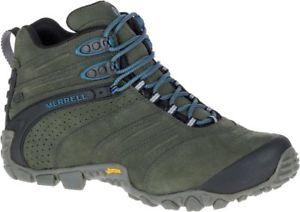 【送料無料】キャンプ用品 カメレオンミッドレザーメンズトレッキングブーツmerrell chameleon ii waterproof mid leather mens trekking boots shoes j09377