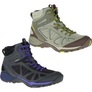 【送料無料】キャンプ用品 レディースレディースサイレンスポーツミッドウォーキングブーツmerrell womensladies siren sport q2 mid gtx goretex walking boots