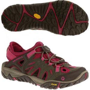 【送料無料】キャンプ用品 ウォーキングハイキングブーツwomens merrell all out blaze womens brown walkinghiking boots shoes