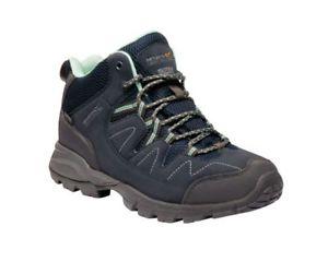 【送料無料】キャンプ用品 レガッタレディースウォーキングハイキングブーツregatta ladies holcombe mid walking hiking comfortable boots navyblazericegreen