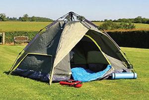 【送料無料】キャンプ用品 ブランドキングフィッシャーハイキングドームテントbrand kingfisher festival hiking auto 3 man person dome tent easy put up