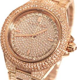 【送料無料】michael kors mk5862 womens camille rose gold pave crystal glitz round rrp 599