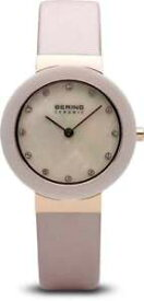 【送料無料】bering time watch ceramic womens polished rose goldtone 11429664
