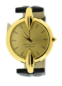 【送料無料】rodolphe by longines gold tone stainless steel watch