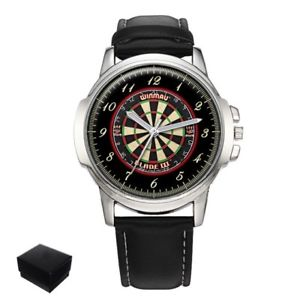【送料無料】darts dartboard mens gents wrist watch gift engraving