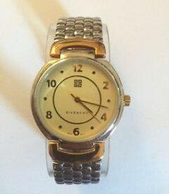 【送料無料】neues angebotrare vintage givenchy womens silver amp; gold tone stainless steel wrist watch