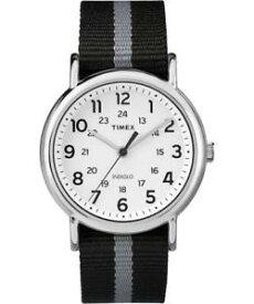 【送料無料】orologio timex weekender tw2p72200 tessuto nero grigio cinturino reversibile