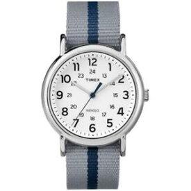 【送料無料】orologio timex weekender tw2p72300 tessuto grigio blu cinturino reversibile