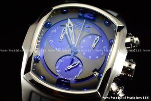 【送料無料】invicta lupah 47mm revolution swiss made ss chrono blue mop polyurethane watch