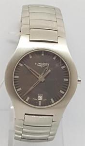 【送料無料】longines opposition steel gents quartz bracelet watch cir 2000 box papers