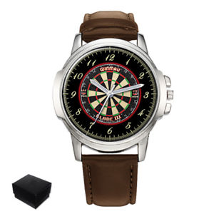 【送料無料】darts dartboard gents mens wrist watch gift box engraving
