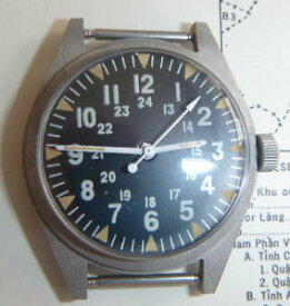 【送料無料】august 1969 wrist watch vietnam war us army serial 742 rare original