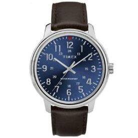 【送料無料】timex tw2r85400, mens basics brown leather watch, 43mm, 30 meter wr
