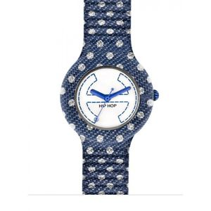 【送料無料】hip hop pois orologio denim jeans blu hwu0403 blue watch small cassa 32 mm