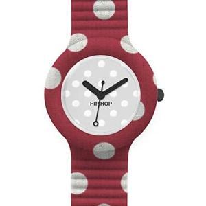 【送料無料】hip hop pois orologio rosso bianco hwu0419 watch small cassa da 32 mm