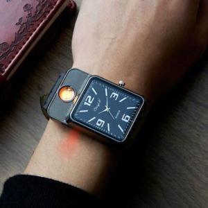 【送料無料】2017 military usb charging sports lighter watch mens casual quartz wristwatches