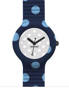 【送料無料】hip hop pois orologio blu e azzurro hwu0420 blue watch small cassa da 32 mm