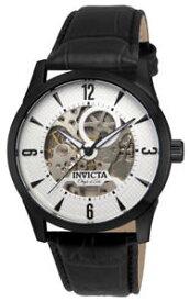 【送料無料】invicta objet d art 22639 mens white round analog automatic leather watch
