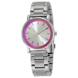 【送料無料】dkyn donna karan yorkny2320 womens soho silver stainlesssteel quartz watch