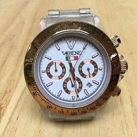 【送料無料】luxury vabene clear plastic analog quartz chronograph watch hour~date~ batter