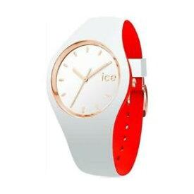 【送料無料】ladies analogue watch icewatch loulou rose gold with white silicone strap 00