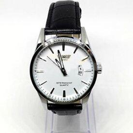【送料無料】fondo rotondo orologio blu cinturino pelle nero bianco finta swidu data dw