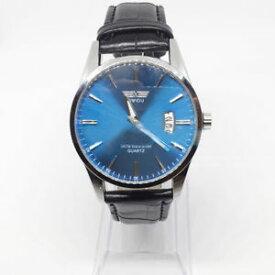 【送料無料】acciaio tondo orologi moda pelle quarzo polso uomo analogico datario swidu ws