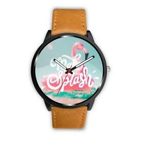 【送料無料】make a splash flamingo pool float wristwatch