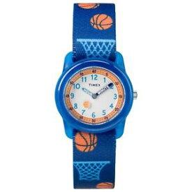 【送料無料】timex tw7c16800, kids time machines elastic watch, basketball, time teacher