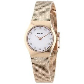 【送料無料】bering womens rose gold plated bracelet amp; case quartz analog watch 11923366