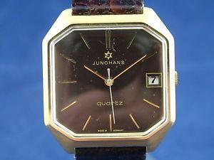 【送料無料】gents nos vintage junghans astro quartz watch 1970s swiss cal 66730
