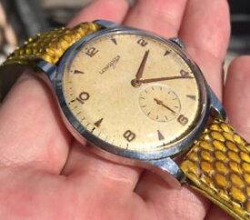 【送料無料】longines calatrava tropical cal 1268z oversize 375mm vintage watch year 1953