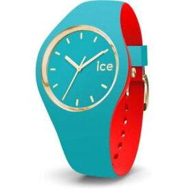 【送料無料】orologio ice watch loulou ic007232 silicone celeste rosso dorato gold small