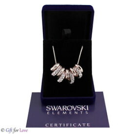 【送料無料】ネックレス ドナオロビアンコスワロフスキーオリジナルcollana donna oro bianco swarovski element originale g4l cristalli cerchi strass