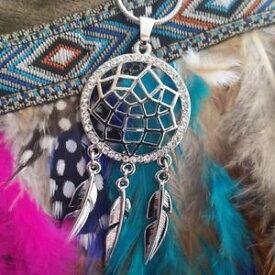 【送料無料】ネックレス ネックレスモデルシルバーゴールドjoli collier mi long modle attrape rves dreamcatcher argent ou dore strass