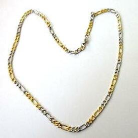 【送料無料】ネックレス ロカテナcollana uomo donna catena 3 1 in acciaio inox lucido e oro 52 cm 113 n