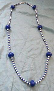 【送料無料】ネックレス プラスチックボールクリップgrand collier annes 60 en plastique grosses boules bleu,petites et blanche,nls