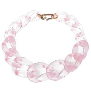 【送料無料】ネックレス クリッププラスチックチェーン3xcollier grand de chaine en plastique bijoux de couleur de poudre transpa w3a2