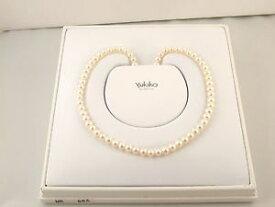 【送料無料】ネックレス パールオロビアンコktcollana di perle coltivate yukiko e chiusura in in oro bianco 18 kt