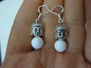 【送料無料】ネックレス イヤリングビーズシルバーboucles doreilles bouddha jade perles 8mm monture en argent 925