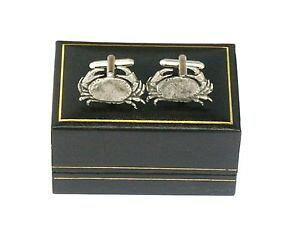 【送料無料】メンズアクセサリ? ワタリガニピューターカフスボタンサインcancer the crab pewter cufflinks ideal mens birth sign gift boxed